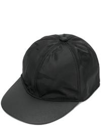 schwarze Camouflage Leder Baseballkappe von Valentino Garavani
