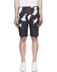 schwarze Camouflage Shorts von Neil Barrett