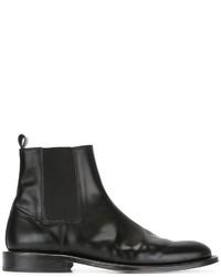 schwarze Chelsea Boots aus Leder von AMI Alexandre Mattiussi