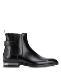 schwarze Chelsea Boots aus Leder von Balmain