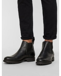 schwarze Chelsea Boots aus Leder von Bianco