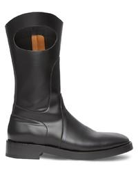 schwarze Chelsea Boots aus Leder von Burberry