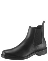 schwarze Chelsea Boots aus Leder von Calvin Klein