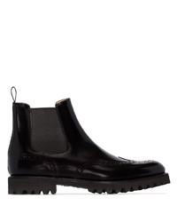 schwarze Chelsea Boots aus Leder von Church's