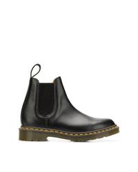 schwarze Chelsea Boots aus Leder von Comme Des Garcons Comme Des Garcons