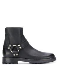 schwarze Chelsea Boots aus Leder von Diesel