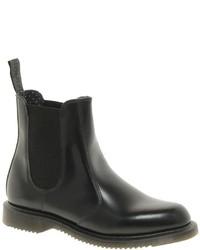 schwarze Chelsea-Stiefel aus Leder von Dr. Martens