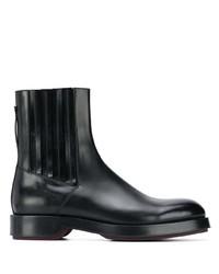 schwarze Chelsea Boots aus Leder von Ermenegildo Zegna