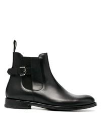 schwarze Chelsea Boots aus Leder von Etro
