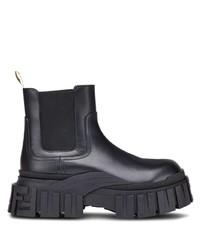 schwarze Chelsea Boots aus Leder von Fendi