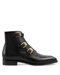 schwarze Chelsea Boots aus Leder von Gucci