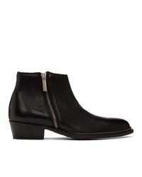 schwarze Chelsea Boots aus Leder von Hugo