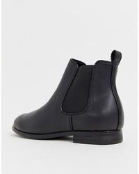 schwarze Chelsea Boots aus Leder von Jack & Jones