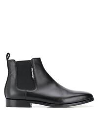 schwarze Chelsea Boots aus Leder von Karl Lagerfeld