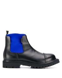 schwarze Chelsea Boots aus Leder von Kenzo