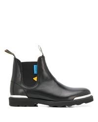 schwarze Chelsea Boots aus Leder von Lanvin