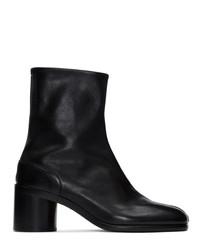 schwarze Chelsea Boots aus Leder von Maison Margiela