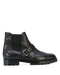 schwarze Chelsea Boots aus Leder von Manolo Blahnik