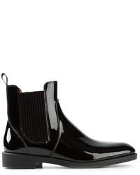schwarze Chelsea Boots aus Leder von Marc by Marc Jacobs