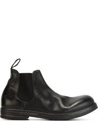 schwarze Chelsea-Stiefel aus Leder von Marsèll