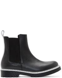 schwarze Chelsea Boots aus Leder von McQ