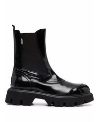 schwarze Chelsea Boots aus Leder von MSGM