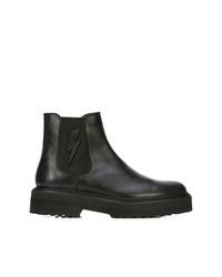 schwarze Chelsea Boots aus Leder von Neil Barrett