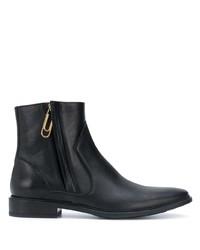schwarze Chelsea Boots aus Leder von Off-White