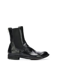 schwarze Chelsea Boots aus Leder von Officine Creative