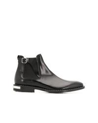 schwarze Chelsea Boots aus Leder von Philipp Plein