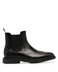 schwarze Chelsea Boots aus Leder von Polo Ralph Lauren