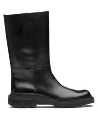 schwarze Chelsea Boots aus Leder von Prada