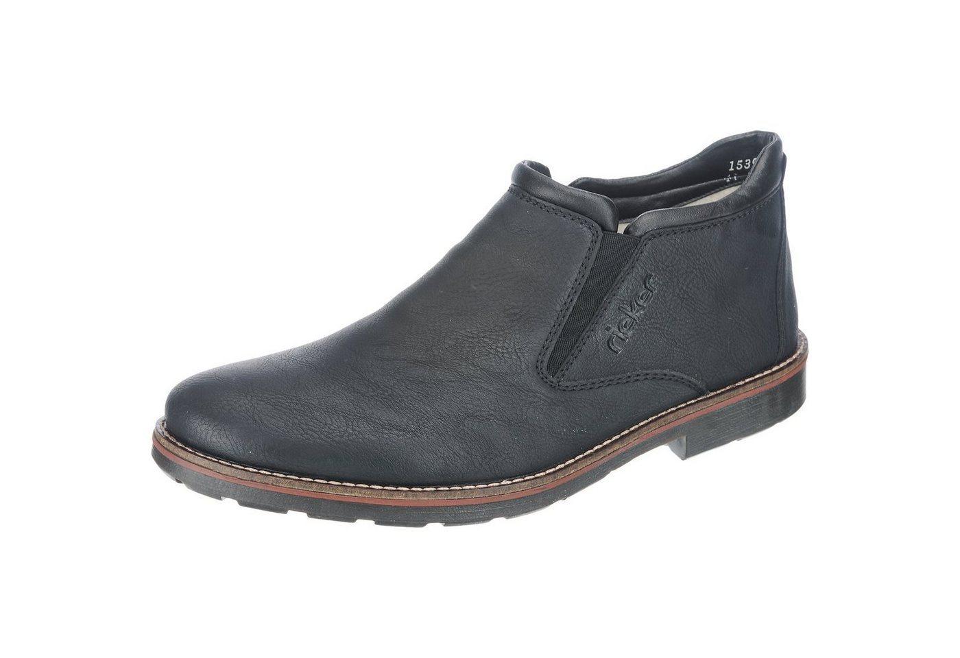 schwarze Chelsea Boots aus Leder von Rieker