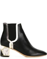 schwarze Chelsea Boots aus Leder von Salvatore Ferragamo