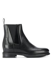 schwarze Chelsea Boots aus Leder von Santoni