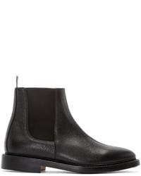 schwarze Chelsea Boots aus Leder von Thom Browne