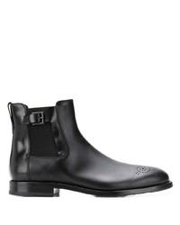 schwarze Chelsea Boots aus Leder von Tod's