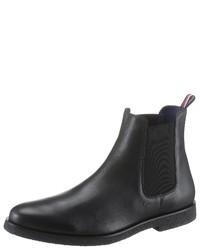 schwarze Chelsea Boots aus Leder von TOMMY HILFIGER X Mercedes-Benz