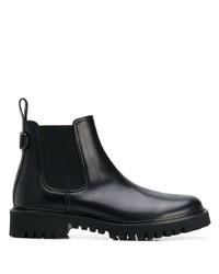 schwarze Chelsea Boots aus Leder von Valentino