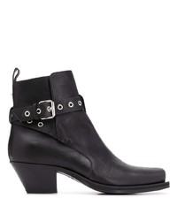schwarze Chelsea Boots aus Leder von Versace