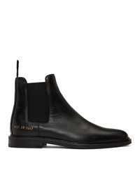 schwarze Chelsea Boots aus Leder von Woman by Common Projects