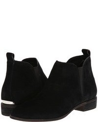 schwarze Chelsea Boots aus Wildleder