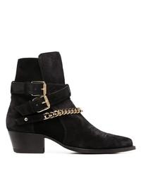 schwarze Chelsea Boots aus Wildleder von Amiri