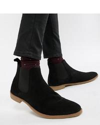 schwarze Chelsea Boots aus Wildleder von ASOS DESIGN