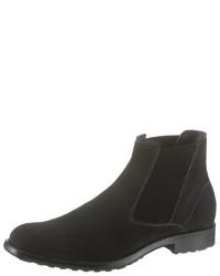 schwarze Chelsea-Stiefel aus Wildleder von Bugatti
