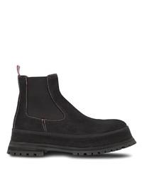 schwarze Chelsea Boots aus Wildleder von Burberry