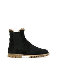 schwarze Chelsea Boots aus Wildleder von Car Shoe