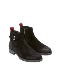 schwarze Chelsea-Stiefel aus Wildleder von Marc O'Polo