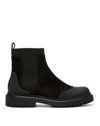 schwarze Chelsea Boots aus Wildleder von Moncler