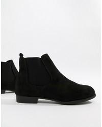 schwarze Chelsea Boots aus Wildleder von New Look